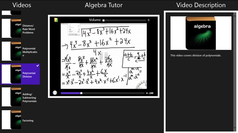 Algebra Tutor screenshot 1