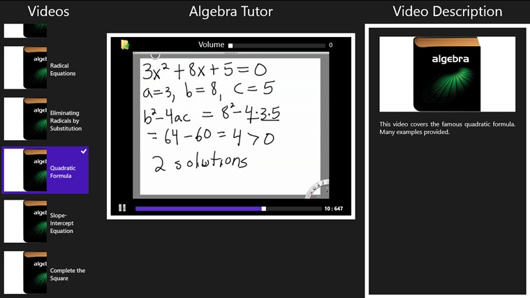 Algebra Tutor screenshot 3