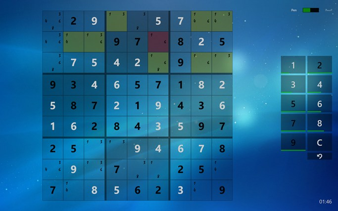 Sudoku Touch screen shot 5