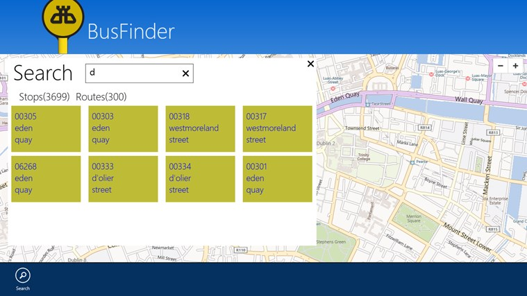 BusFinder screen shot 1