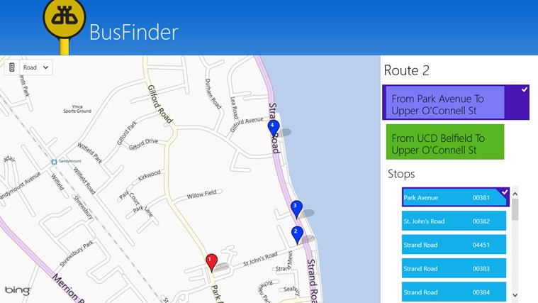 BusFinder screen shot 3