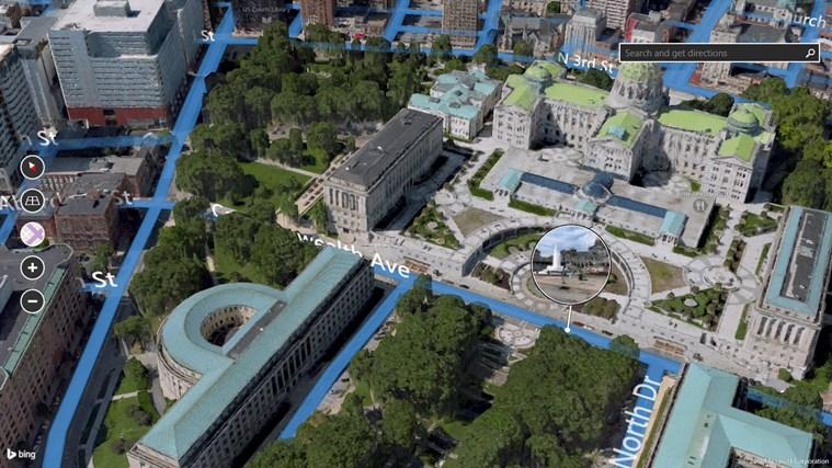 Bing Maps Preview screen shot 1