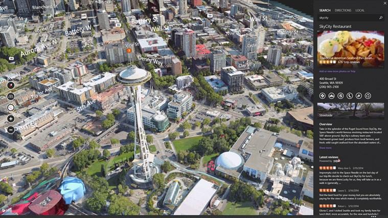 Bing Maps Preview screen shot 3