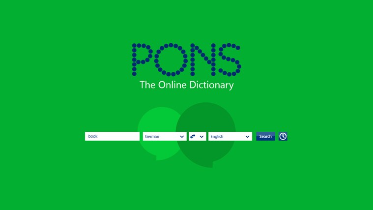 PONS Online Dictionary screen shot 1