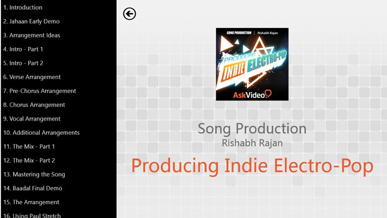 Song Production - Producing Indie Electro-Pop screenshot 1