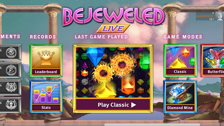 Bejeweled LIVE captura de pantalla 3