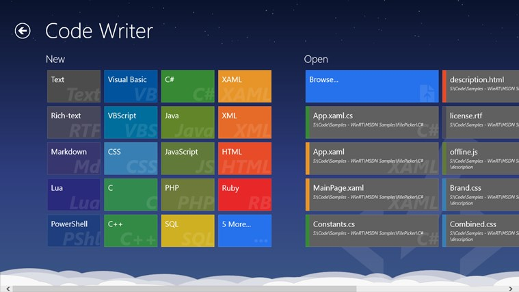 Code Writer App For Windows In The Windows Store