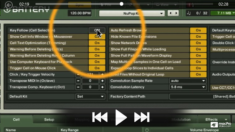 Native Instruments 200 - Battery: Drum Programming screen shot 3