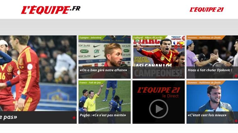L'Equipe.fr capture d'écran 1