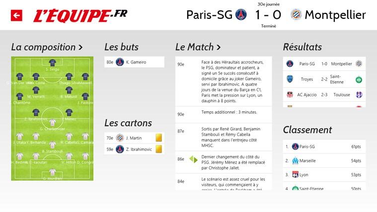 L'Equipe.fr capture d'écran 5