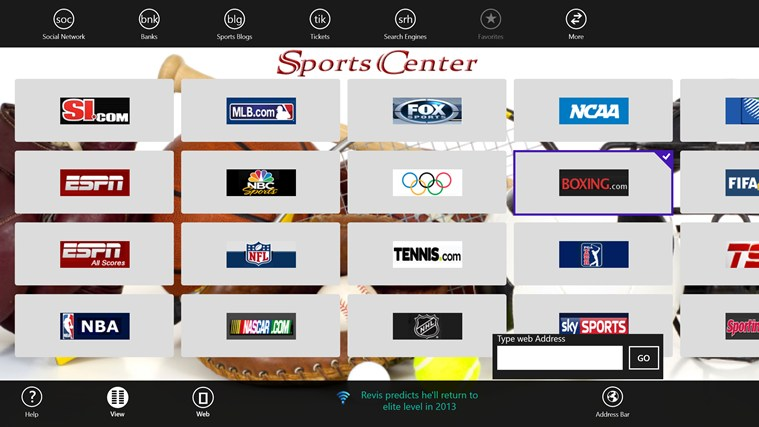 Sports Center screen shot 1