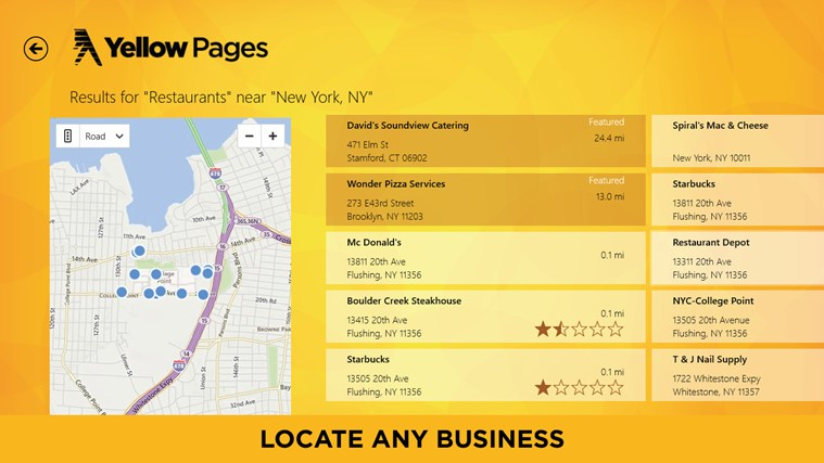 Yellow Pages screen shot 1