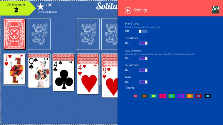 Solitaire Pro screen shot 1