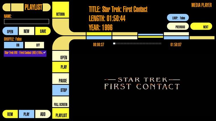 LCARS Interface screen shot 3