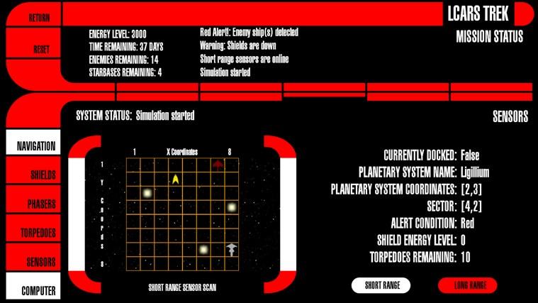 LCARS Interface screen shot 5