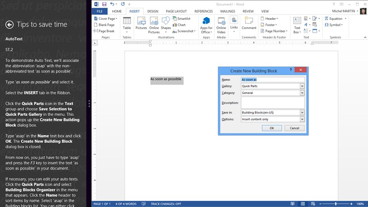 Video Training for Word ® 2013 screen shot 3