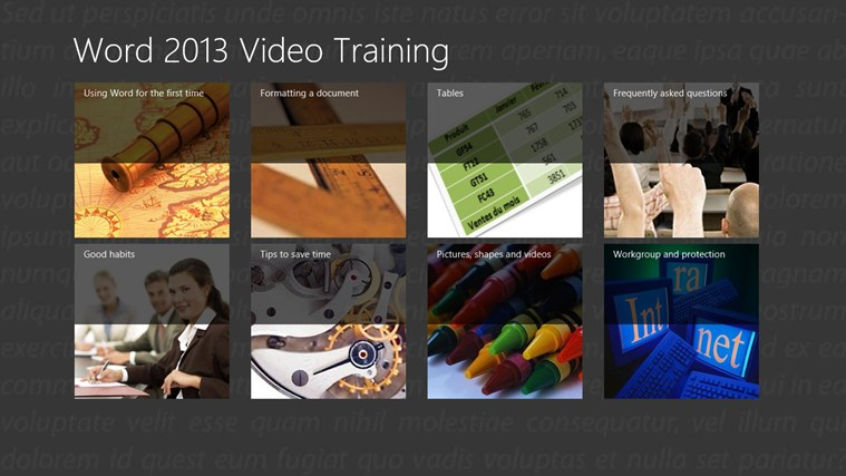 Video Training for Word ® 2013 screen shot 5