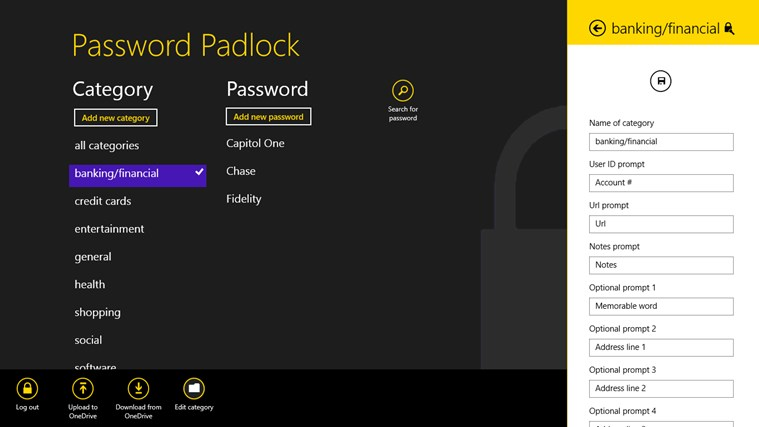 Password Padlock screen shot 1