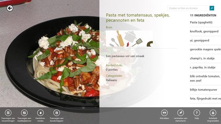 Bing Eten en drinken schermafbeelding 1