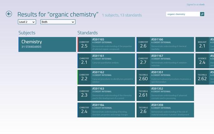 NCEA Hub screen shot 5