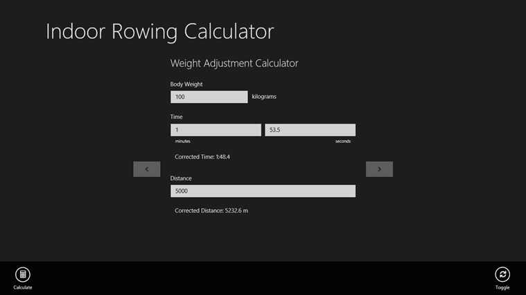 Indoor Rowing Calculator screen shot 3