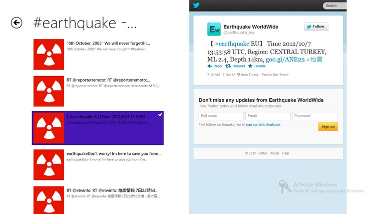 #disaster tweets screen shot 1