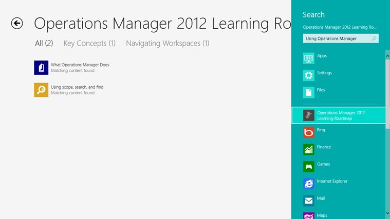 Operations Manager 2012 Learning Roadmap screen shot 7
