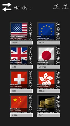 Handy Currency Converter screen shot 5