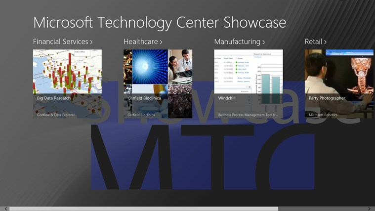 MTC Showcase screen shot 1