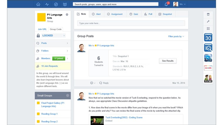 Edmodo screen shot 1