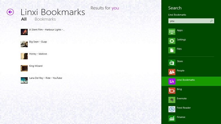 Linxi Bookmarks screen shot 5