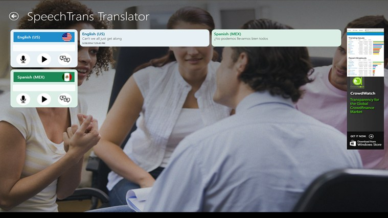 SpeechTrans Translator screen shot 1
