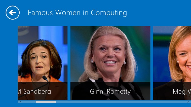Women in Computing screen shot 1
