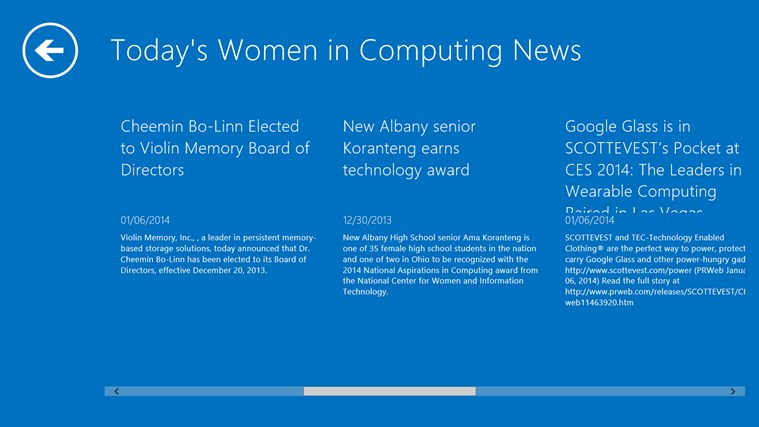 Women in Computing screen shot 3