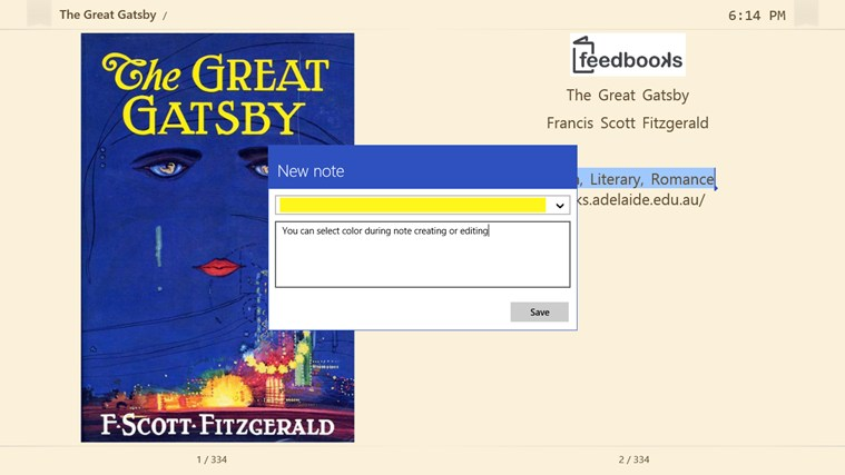 Fiction Book Reader screen shot 3