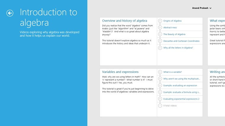 Khan Academy screen shot 1