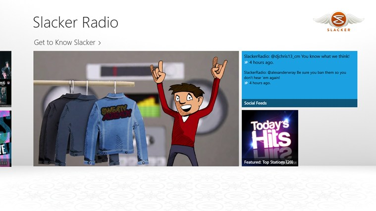 Slacker Radio screen shot 1