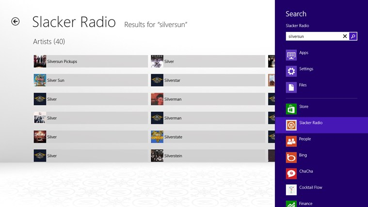 Slacker Radio screen shot 5