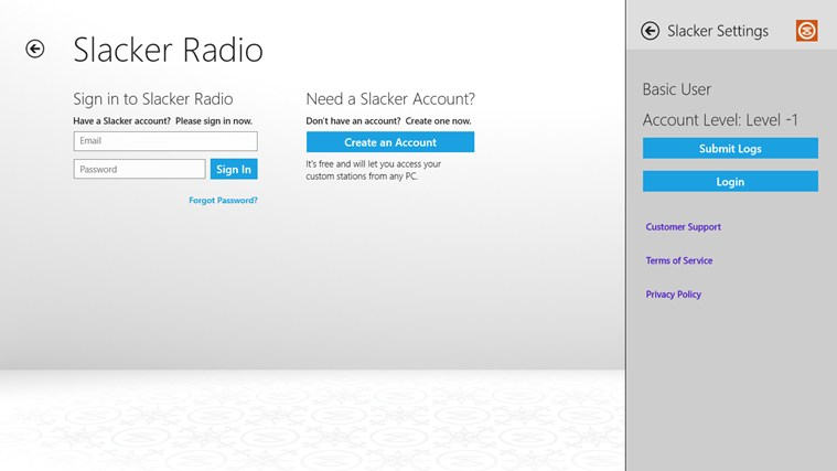 Slacker Radio screen shot 7