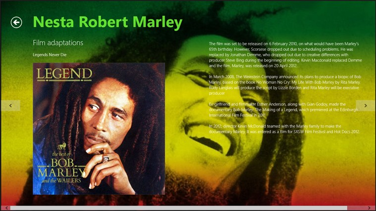 Bob Marley screenshot 1
