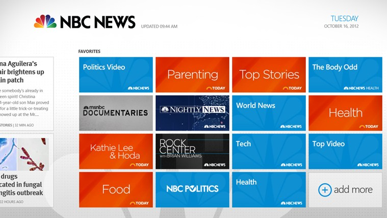 NBC News for Xbox 360