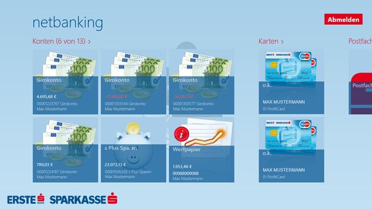 Erste Bank / Sparkasse Österreich - netbanking Screenshot 3