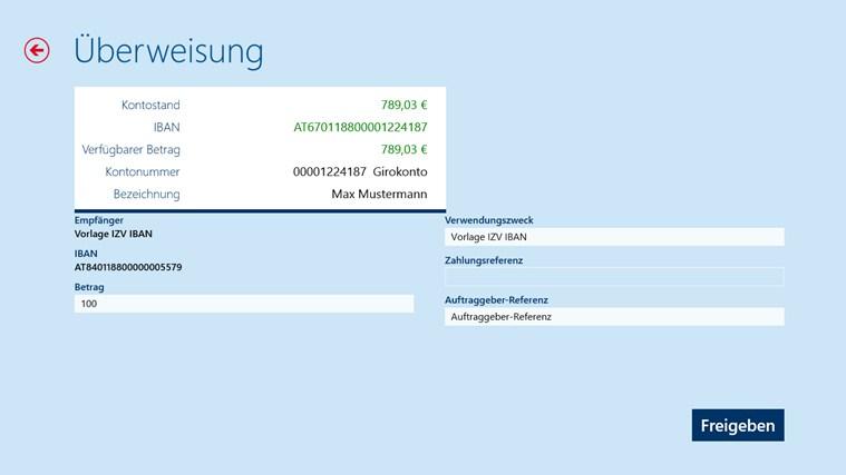 Erste Bank / Sparkasse Österreich - netbanking Screenshot 5