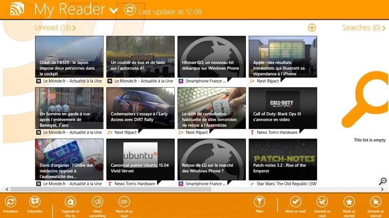 MyReader screen shot 1