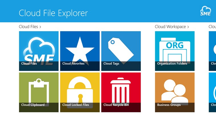 Cloud File Explorer screen shot 1