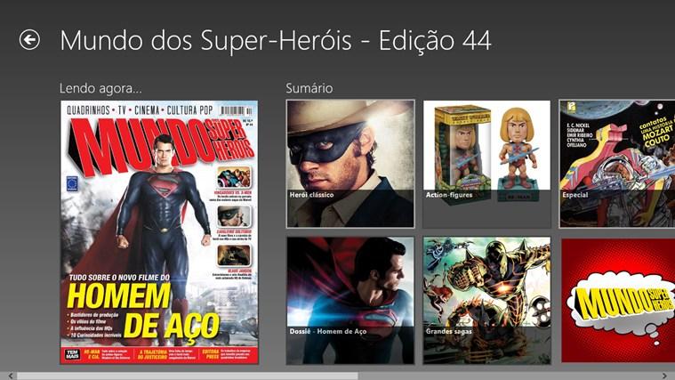 Revista Mundo dos Super-Heróis captura de pantalla 1