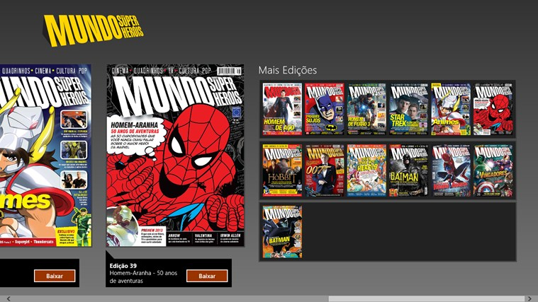 Revista Mundo dos Super-Heróis captura de pantalla 7