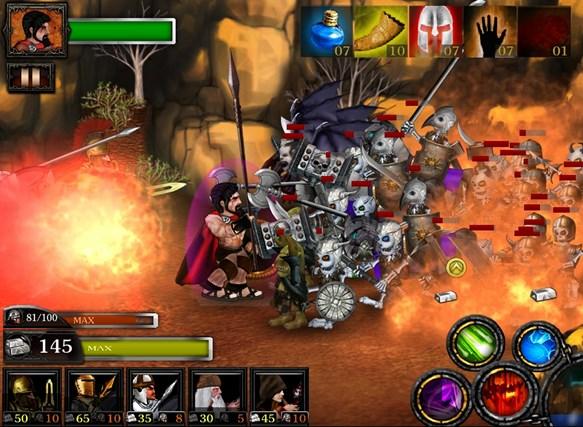Spartans vs Zombies Defense screen shot 1