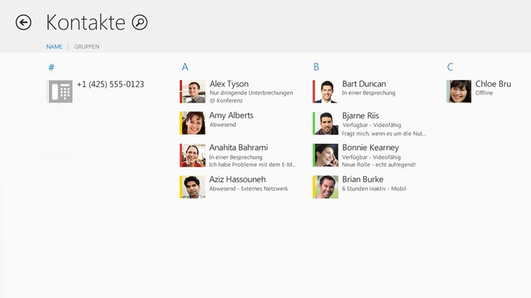 Lync Screenshot 1
