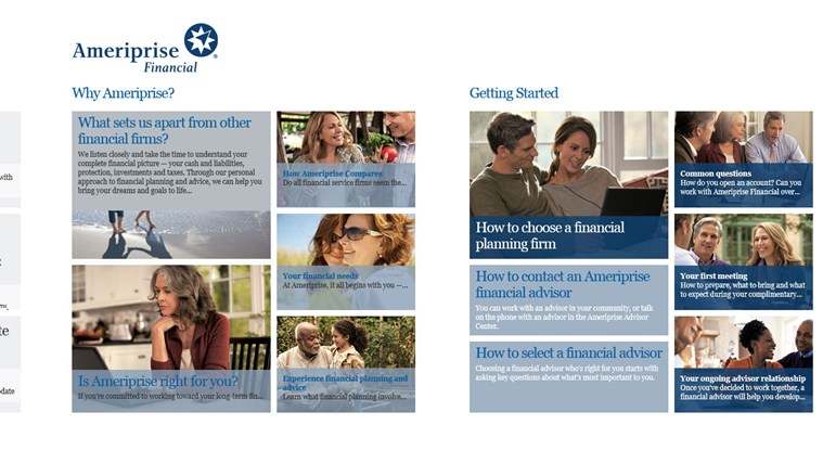 Ameriprise Financial screen shot 1